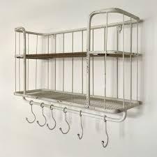 regal eisenregal küchenschrank weiß holz metall industrial style