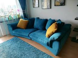 schönes großes sofa farbe türkis zu verkaufen