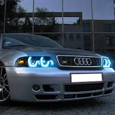 DNA Motoring: For 96-01 Audi A4 B5/8D 3D LED Halo Projector RGB ... Devils Eye Projection Hid Headlight Revo Cycle Bmw 318 Ci Angel Eyes Halo Lights M Sports Alloys Leather Sony Mp3 Halo Lights Installed Mustang Oracle Lighting Color Fog Lights Lumen Harley Davidson Flstf Fat Boy 1997 7 Round Orange 7004053 Factory Style With Red Plasma On A Gmc Truck Youtube Custom Led For Cars From Oracle 2641032 Ccfl Blue Kit Headlights Multi Color And Strip Lighting 2012 Jeep Wrangler Redline Lumtronix Hh030led Wrangler Jk Headlight With