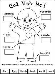 Preschool Creation Coloring Sheets