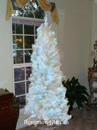Skinny Pre Lit Christmas Tree 7 Foot White Home Is Best Place To Return 7ft Slim