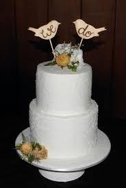 2 Tier Rustic Style Wedding Cake
