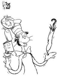Popular The Cat In Hat Coloring Pages Printable