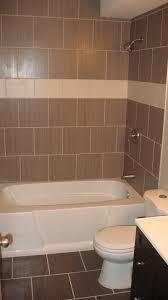 tile around tub shower combo bathroom inspiring brown decoration