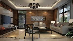 Unusual Living Room Decorating Ideas Black Metal Shade Chandelier Lighting Beige Floral Fabric Rug Brown Gingham
