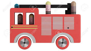 100 Pink Fire Truck Toy Isolated On White Background Stock Photo Picture And