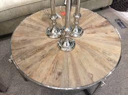 couchtisch rund metall massivholz runder couchtisch