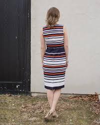 maggy london ottoman stripe midi sheath dress u2013 sparrow boutique