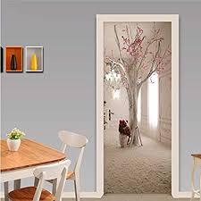 yackadw moderne kreative floral baum wand tür aufkleber