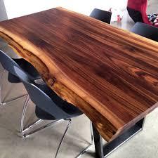 table de cuisine en bois massif 2loons tables en noyer massif mikaza meubles modernes montreal