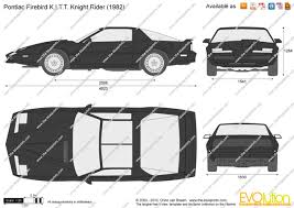 Pontiac Firebird KITT Knight Rider Vector Drawing