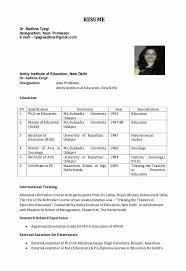 Sample Resume Format For Assistant Professor In Engineering College Rh Hooperswar Com Model