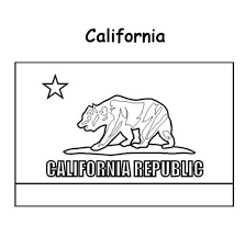 California Flag Coloring Pages 1990150