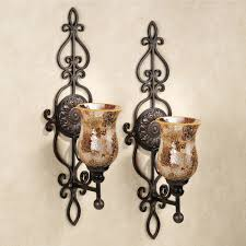Bed Bath And Beyond Metal Wall Decor by Leyanna Mosaic Aged Brown Wall Sconce Pair
