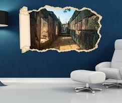 3d wandtattoo tapete ruine alt antik mauer steine durchgang bau durchbruch selbstklebend wandbild wandsticker wohnzimmer wand aufkleber 11o1773