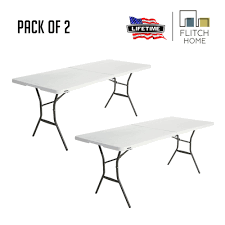 Lifetime 6 FT Fold In Half Table Pack Of 2 - White 8 Folding Table And Chairs Brusjesblog Lifetime White Granite Shopsm Chair 80747 Classic Card Tables Tablecloth Black 42804 Commercial Grade 6foot Plastic Traing Seat Metal Frame Outdoor Safe Set Of 4 80155 Loop Leg Lawn Pack Anders Mandaue Foam Lancaster Seating 72 Round Heavy Duty