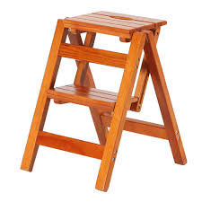 Amazon.com: Wooden Folding Step Stool Stepladder Portable ...