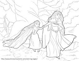 Disneys Tangled Coloring Pages Sheet Free Disney Printable
