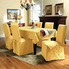 Impressive Dining Room Chair Seat Slipcovers Cement Patio Decorating Your