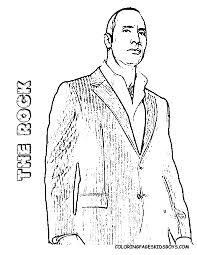 The Rock Cinema Star Coloring Page At YesColoring