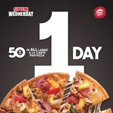 Pizza Hut - It's Supreme Wednesday Tomorrow. Get 50% Off ... Pizza Hut On Twitter Get 50 Off Menupriced Pizzas I Love Freebies Malaysia Promotions Everyday Off At March Madness 2019 Deals Dominos Coupons How To Percent Pies When You Order Hit Promo Best Promo Code For The Sak Hut Large Pizza Coupons All Through Saturday Web Deals Half Price Books Marketplace Coupon Things To Do In Ronto Winter Papajohns Discount Is Buffalo Wild Wings Open