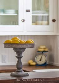 Love This DIY Rustic Pedestal Then Fill It With Faux Lemons For Some Easy And Cute
