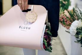 Blush Parnell Florists Feature Flower Case Branding And Graphic Design Hannah Studio New