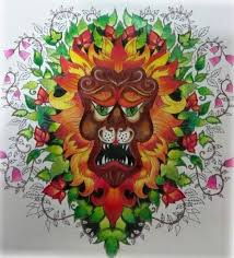 Enchanted Forest Leao Floresta Encantada Johanna Basford Adult ColoringColouringColoring BooksJohanna