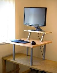 Computer Table At Walmart by Desk Stand Up Computer Rustic Standing Walmart Conversion Kit Ikea