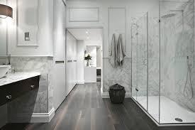 marble wainscoting modern bathroom