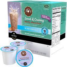 Keurig K Cups Donut Shop Sweet Creamy Nutty Hazelnut Iced Coffee 16 Count