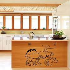 Cute Home DIY Japanese Cartoon Crayon Shin Chan Wall Sticker Decals Decor Mural Kitchen Decoration In Stickers From Garden On