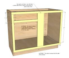 Blind Corner Base Cabinet by Ana White 42