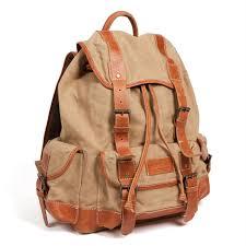 sac a dos toile sac à dos toile et cuir 15 l nature découvertes