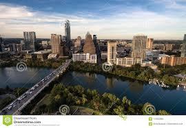 100 Austin City View Aerial Colorado River Downtown Skyline Texas USA