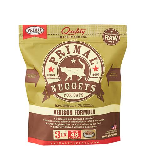 Primal Pet Foods Formula Cat Food, Venison - 3 lb bag
