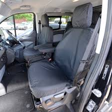 Ford Transit CUSTOM M SPORT - Tailored Front Seat Covers Black (2013 ...
