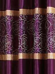 Faux Silk Eyelet Curtains by Purple Curtains Eyelet Centerfordemocracy Org