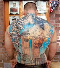 Whole Back Piece Firefighter Tattoo Amazing