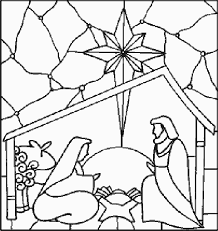 Nativity Manger Scenes Coloring Pages Scene