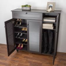 baxton studio abelard 45 in dark brown wood shoe storage cabinet