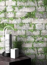 newroom steintapete tapete grau mauer stein modern vliestapete grün vlies moderne design 3d optik steintapete ziegelstein backstein mauerwerk klinker