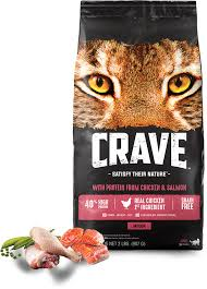 high protein cat food chicken salmon flavored high protein cat food crave