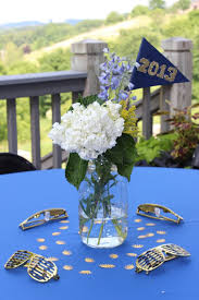 personalized mason jar floral centerpieces grad parties and