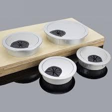 passe cable de bureau 50 53 60mm trou rond bureau bureau table passe fil trou table