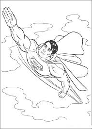 Click To See Printable Version Of Superman In The Sky Coloring Page