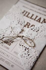 Rustic Wedding Handmade Diy Lace Invitation 1513011 Doily Invitations