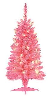 This Small Pink Pre Lit Christmas Tree May Make Some People Cower Away But Its Ideal For A Childrens Bedroom And Already Has 20 Built In LED Lights