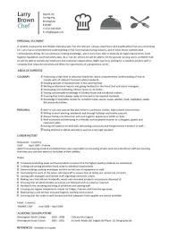 Chef Resume Sample Examples Sous Jobs Free Template Chefs Job Description Work