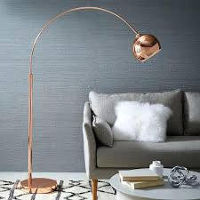 Overarching Floor Lamp Uk by West Elm Floor Lamp Uk Overarching Acrylic Shade Antique Brass